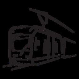 Tren eléctrico de cara a la izquierda
