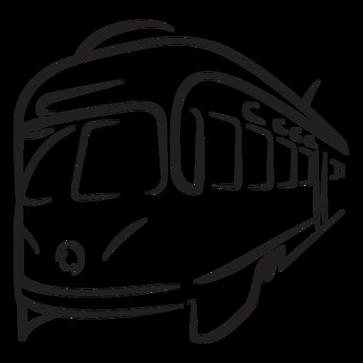 Train electric left facing closeup stroke
