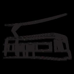 Tren eléctrico de cara a la derecha