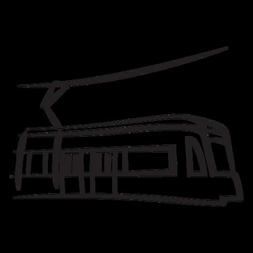Train electric right facing stroke