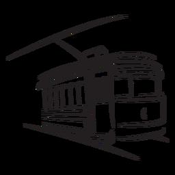 Trem elétrico direito de frente para o estilo antigo