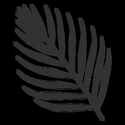 Silueta de palmera areca de hojas tropicales