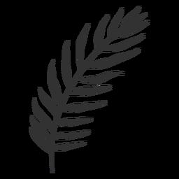 Silueta de palma de coco de hojas tropicales