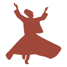 Silueta de mevlevis bailarina turca