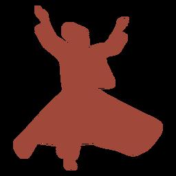Turkish dancer mevlevis silhouette