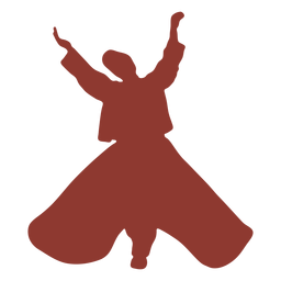 Turkish dancer mevlevis hands high silhouette