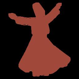 Bailarina turca mevlevis torbellino silueta