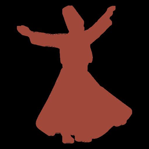 Turkish dancer mevlevis whirl silhouette