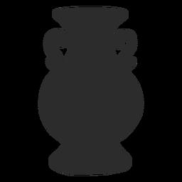 Silhueta de líquidos ânfora estilo vaso