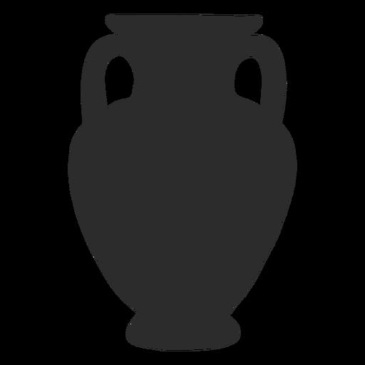 Vase style amphora panathenaic silhouette Transparent PNG