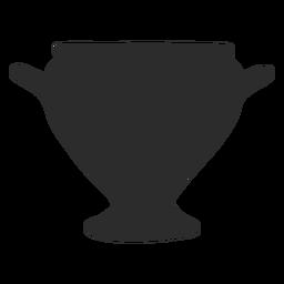 Florero estilo kylix silueta
