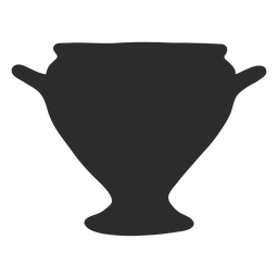 Vase style kylix silhouette