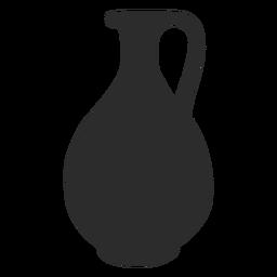 Silhueta de vinho oinochoe estilo vaso