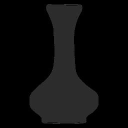 Silhueta de gola longa olpe estilo vaso