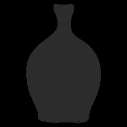 Silueta de lekythos en cuclillas estilo florero