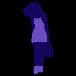 Bolso de mano de moda mujer en la cabeza