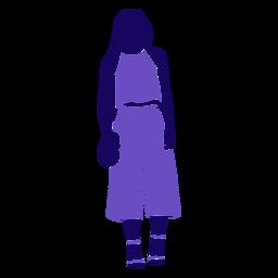 Bolso de moda para mujer de pie