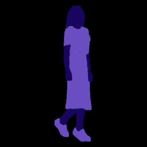 Women fashion walking right facing