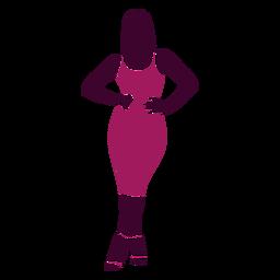 Mujeres sexy posando con las manos en la cadera