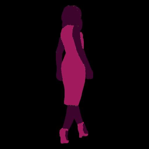 Mujer sexy, ambulante, mirar atr?s