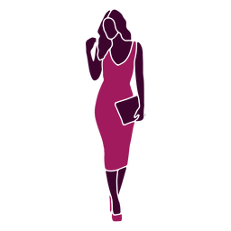Bolso recto de mujer sexy caminando