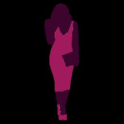 Mujeres sexy caminando bolso recto