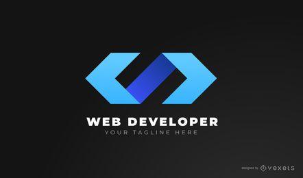 Design de logotipo de desenvolvedor Web