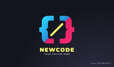 Design de logotipo colorido do programador