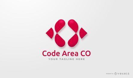 Design de logotipo da área de código