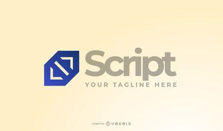 Skript Programmierer Logo Design