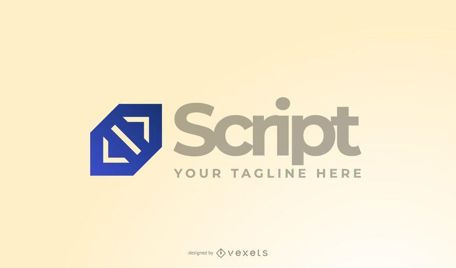 Programador de guiones Logo Design