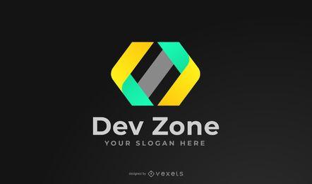 Design de logotipo da zona de desenvolvimento