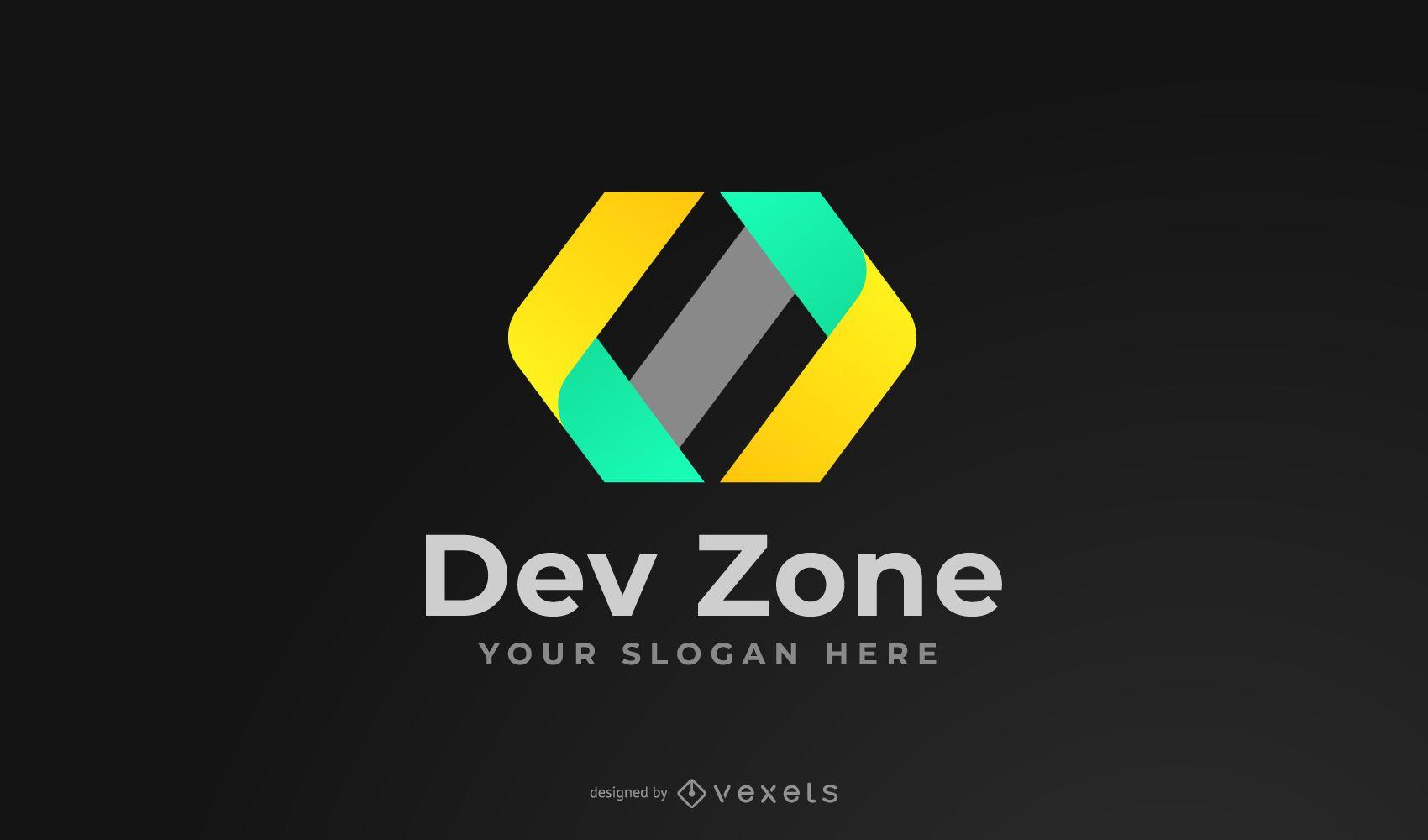 Design de logotipo da Dev Zone