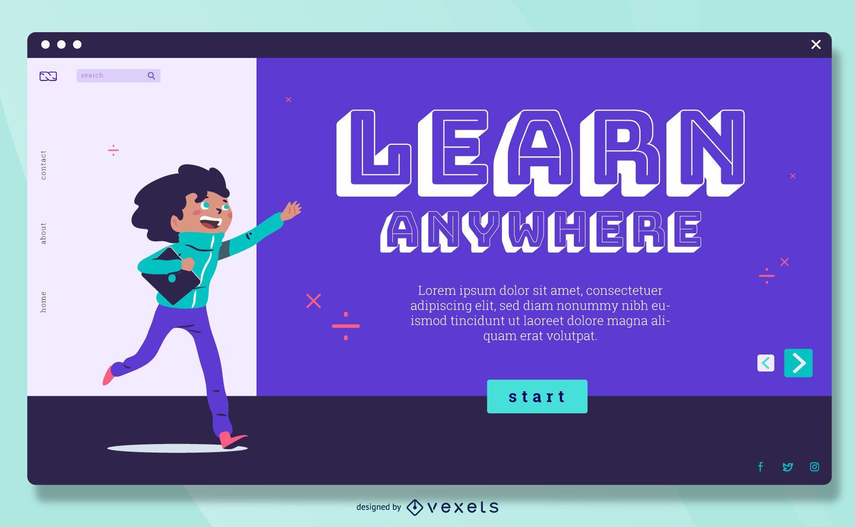 Online Kids Courses Fullscreen Slider design