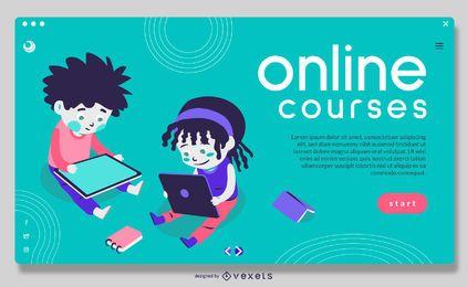 Cursos on-line Crianças Slider em tela cheia Design