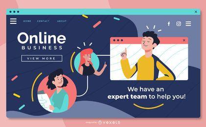 Design de Slider em tela cheia de negócios on-line