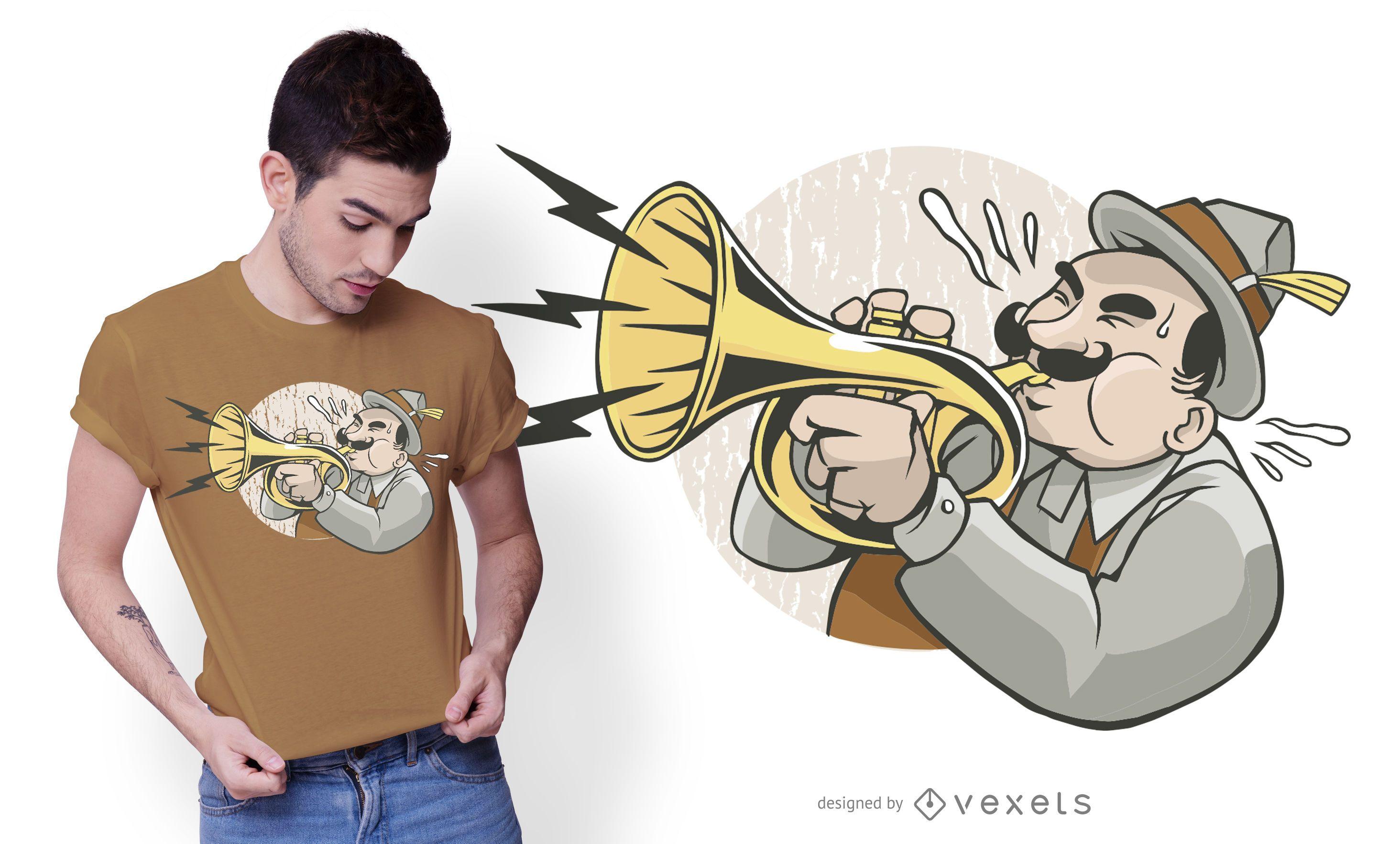 Jazz Trumpeter T-shirt Design