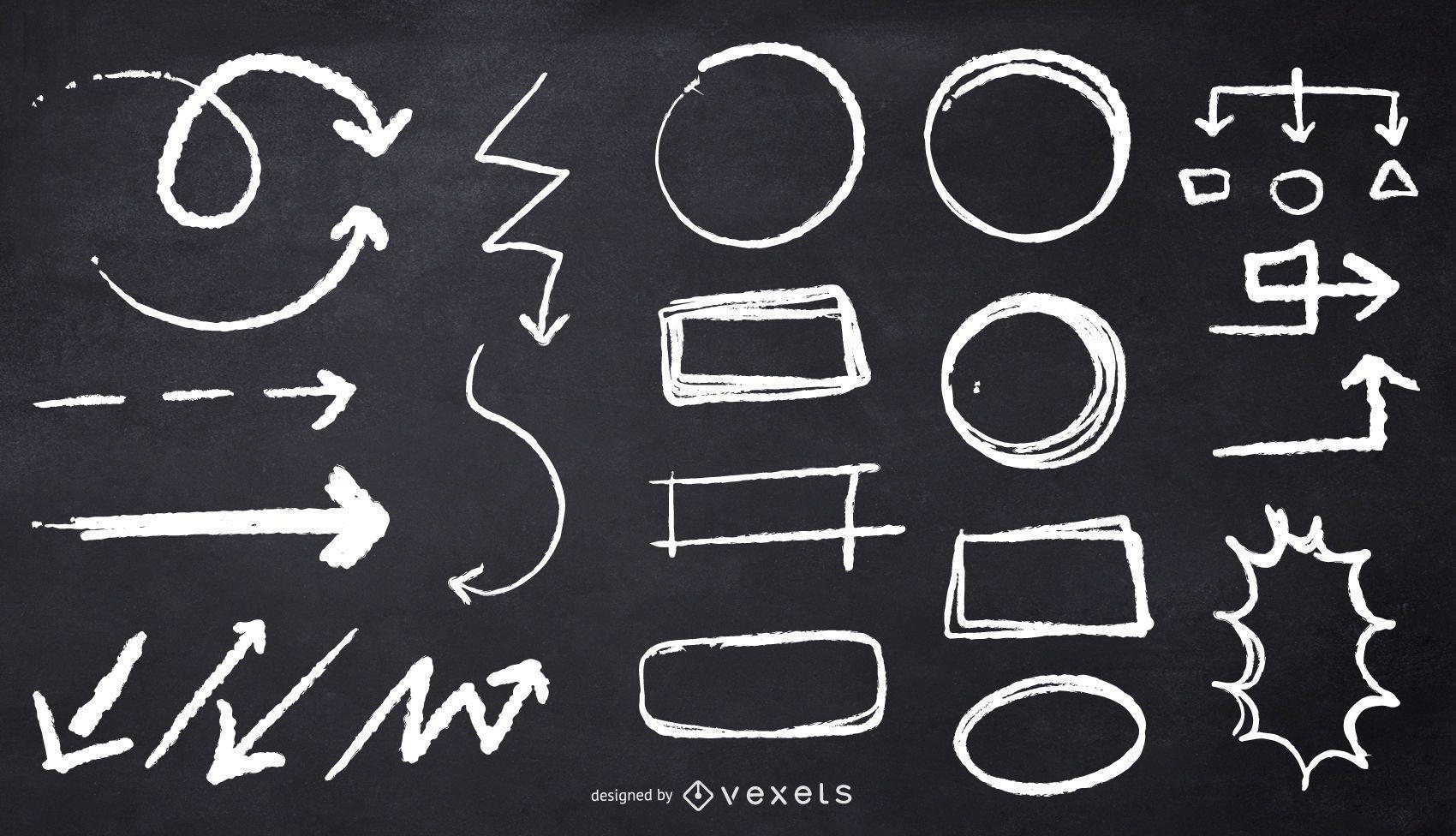 chalk circles arrows illustration
