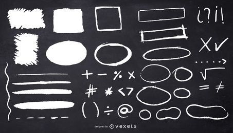 Kreidekreise Quadrate Illustration