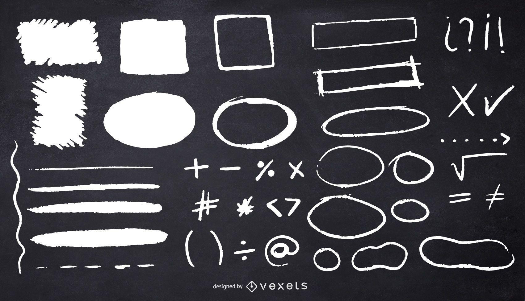 chalk circles squares illustration