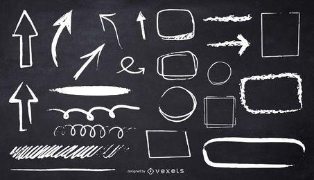 desenho de ilustração de formas de giz