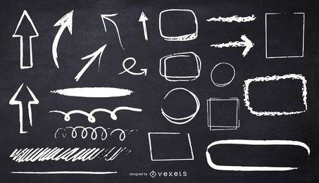 diseño de ilustración de formas de tiza