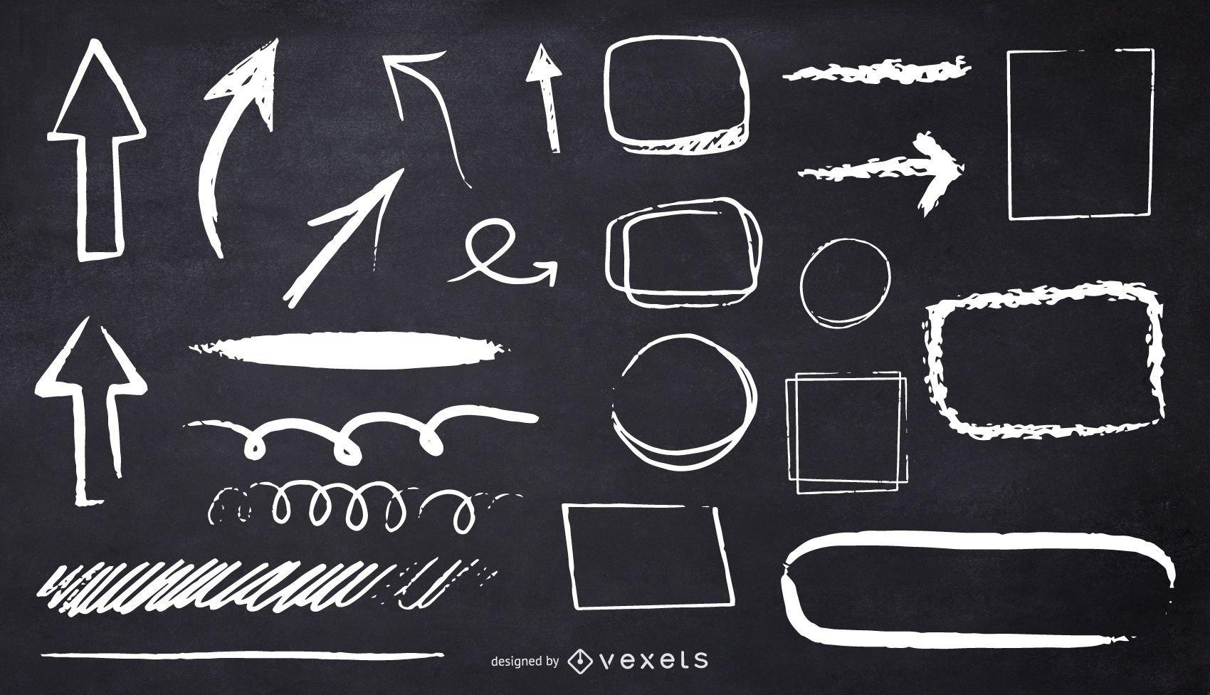 chalk shapes illustration design