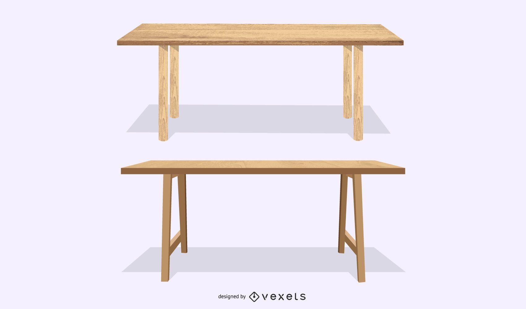 juego de dos mesas de madera