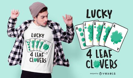 Lucky Clover Card T-Shirt Design