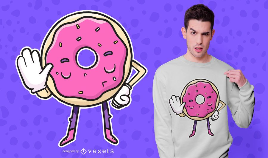 Donut Says No T-shirt Design