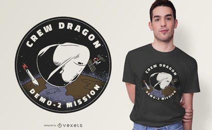 Projeto do t-shirt do remendo do dragão da tripulação