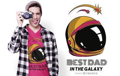 Melhor pai no design de camisetas Galaxy