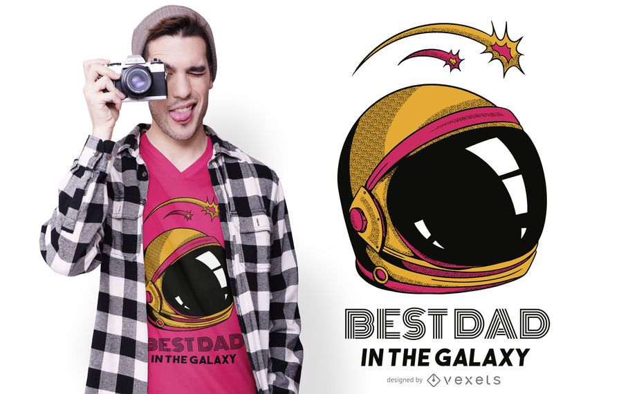 Mejor diseño de camiseta de papá en galaxia