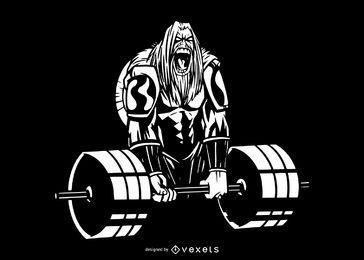 Ilustração Deadlift Viking Dark
